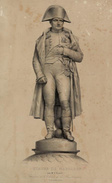Zéphirin Belliard et François Delpech, estampe de la statue de Napoléon Ier de Seurre, s.d., Paris, Musée Carnavalet.